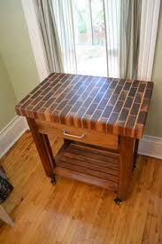 Diy End Grain End Table End Grain Butcher Block Reclaimed Wood Cutting By Detroitexporting