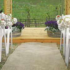 Aisle Runner Wedding Burlap Aisle Runner Ebay