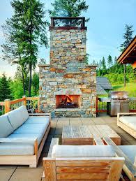 porch fireplace plans outside gas kits deck open design plush