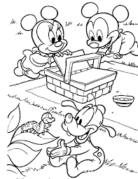 baby mickey mouse minnie mouse coloring pages