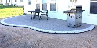 Types Of Pavers For Patio How To Build A Kidney Bean Shaped Paver Patio Diy Types