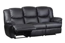 Sofas Recliner Black Leather 3 Seater Recliner Sofa Welcome To Furnitureparkonline