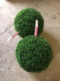 Faux Outdoor Bushes Premium Quality Artificial Boxwood Balls With Stakes Attached