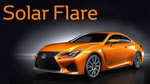lexus rc f color competition ends with u0027solar flare u0027 winner