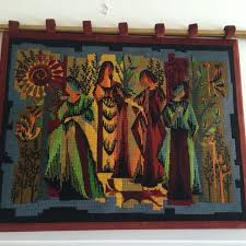 find more retro vintage needlepoint tapestry four seasons for