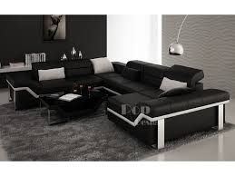 canapé en cuir d angle canapé d angle cuir panoramique design torino xl pop design fr