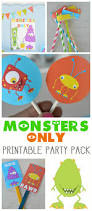 Welcome Home Banners Printable by Monsters Only Printable Party Pack Our Thrifty Ideas