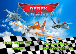 planes birthday invitation disney pixar 2013 movie kustom kreations