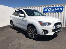 mitsubishi sports car white mitsubishi asx 4 2 2 di d diesel 4x4 auto white 2014 in