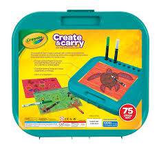 Kids Storage Lap Desk by Crayola Create And Carry Case Great Gift For Kids And Travel