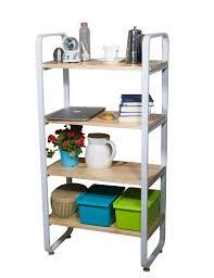 Shelves Bookcases Vilavita 4 Tier Wood Shelf Bookcases Heavy Duty Shelving Unit