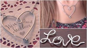 jewelry heart necklace images Diy wire heart necklace pendant name jewelry how to jpg