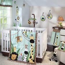 Unisex Crib Bedding Sets Safari Animals Monkeys And Zebras Unisex Baby Boys 5pc