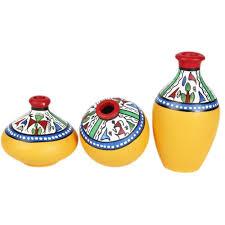 terracotta pots exclusivelane hand painted terracotta pots set of 3 candy