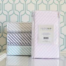 white and sea green striped crib skirt oliver b
