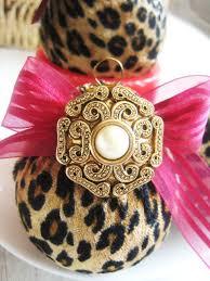diy animal print decor leopard print ornaments diy