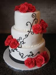 wedding cake ideas roses cheap and simple wedding cake ideas