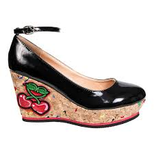 banned mustang sally black wedge heeled shoes women u0027s alternative