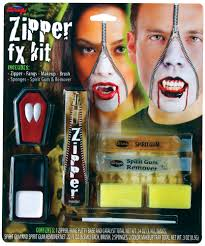 spirit halloween fangs deluxe fx zipper kits assortment halloween