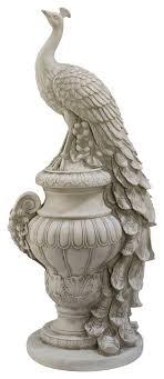 staverden castle peacock on an urn garden statue traditional