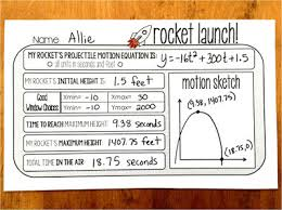 scaffolded math and science free projectile motion warm up template
