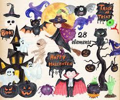 watercolor halloween clipart halloween clip art