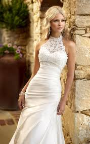 halter wedding dresses beaded lace halter wedding dress by camille la vie weddings