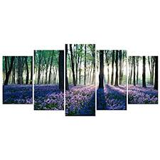 Lavender Home Decor Amazon Com Sunshine Purple Lavender Forest Painting Pictures