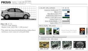 toyota prius paint codes and brochures priuschat