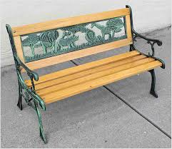 iron park benches kids park bench wooden bench cast iron leg garden outdoor of kids
