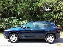 2016 jeep cherokee sport 2016 true blue pearl jeep cherokee sport 4x4 113940186 gtcarlot