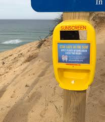 many cape cod beaches now have free sunscreen pumps pics