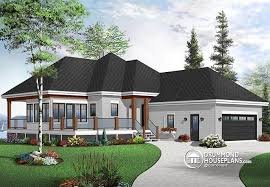 Transitional Style House - house plan w3949 v1 detail from drummondhouseplans com