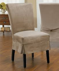 parsons chair slipcovers this driftwood luxury suede parson mid pleat chair cover