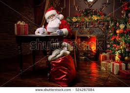 santa claus fireplace stock images royalty free images vectors