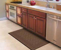 galley kitchen remodeling with anti fatigue brown kitchen