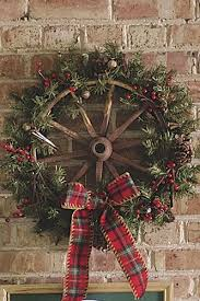 country christmas western cowboy christmas antique wagon wheels wreaths