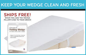 foam wedge pillow for elevated sleeping in bed