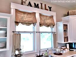 valance ideas for kitchen windows decorations burlap window treatments for interior home
