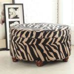 cowhide zebra print coffee table ottoman modern footstools and