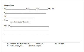 phone message template u2013 21 free word excel pdf documents