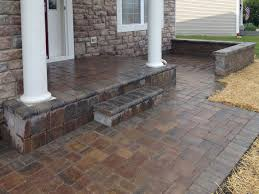 Patio Brick Pavers Brick Paver Patio In Lake Landscaping And Hardscaping Brick