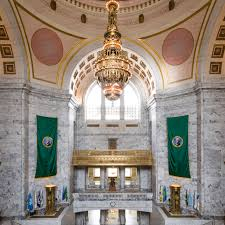 Map Oregon Washington State Stock by Washington State Capitol