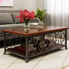 Modern Wooden Sofa Furniture Scrolled Metal And Wood Sofa Table Best Home Furniture Decoration