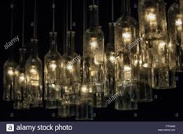 lights made out of wine bottles l made of empty wine bottles stock photo 90696825 alamy