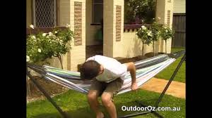 Hammock Frame Oztrail Hammock Frame Stand Set Video 3 Youtube