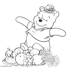 winnie the pooh thanksgiving coloring pages printable best