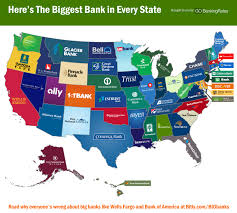 United States States Map by Here Is The Biggest Bank In Every State