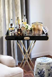 Next Bar Table Living Room Features Sofa Next To A Glossy Black Lacquer Tray
