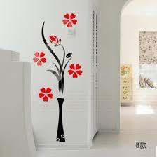 aliexpress com buy 3d wall stickers vase plum flower modern
